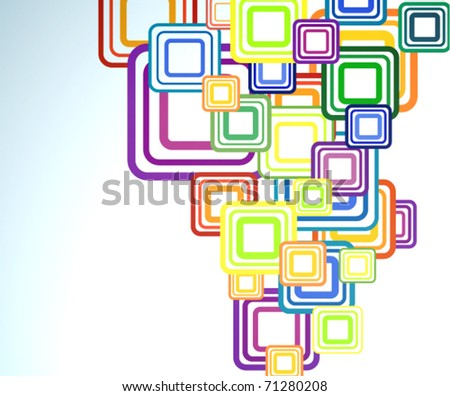 Vector multicolor abstract background