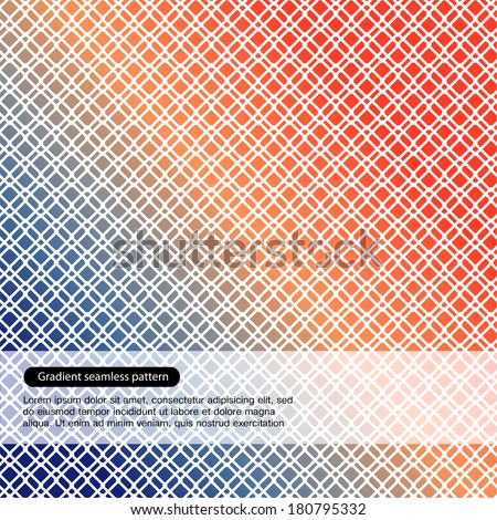 Vector multicolor seamless pattern. Geometric background - stock vector