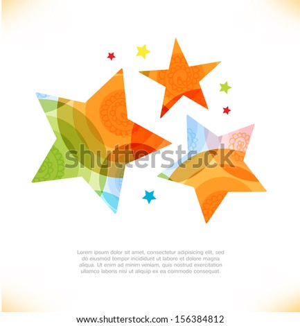 Vector multicolor stars. Beauty elements for gifts, cards, invitations - stock vector