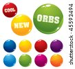 Vector multicolored orbs, very shiny and glossy - stock vector