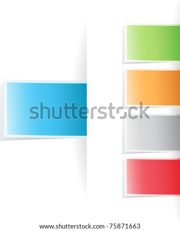 Vector multicolored tag label - stock vector