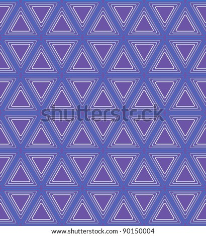 Vector multicolored triangles seamless pattern - stock vector
