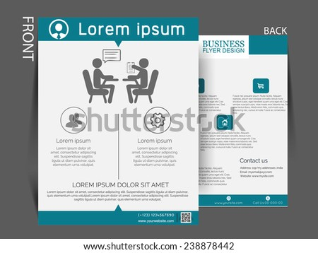 Vector Multipurpose business flyer, brochure, magazine cover, can be use for marketing.