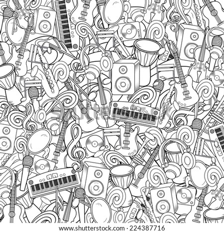 Vector music background - stock vector