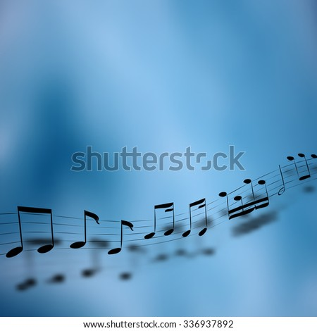 Vector music background concept in color - stock vector
