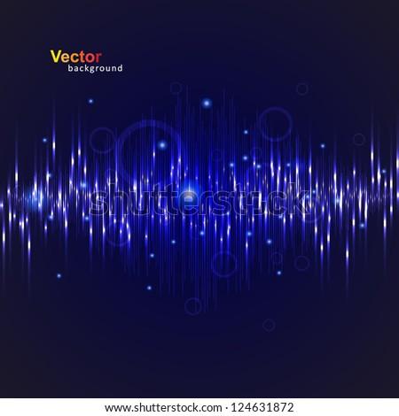 Vector music Eq - stock vector