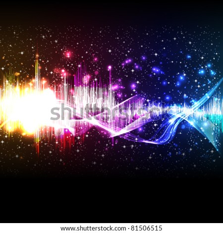 Vector music equalizer wave - stock vector