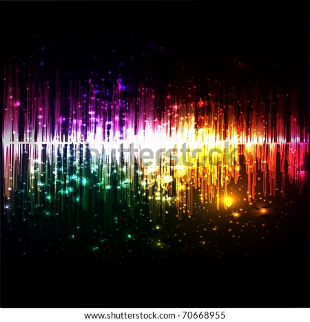 Vector music equalizer wave [pixelation at 100%] - stock vector