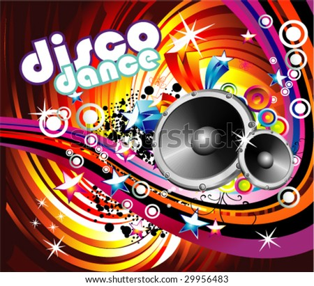 VECTOR Music Event Disco Dance Background - Music Series - stock vector