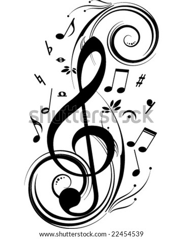 Vector music theme - stock vector