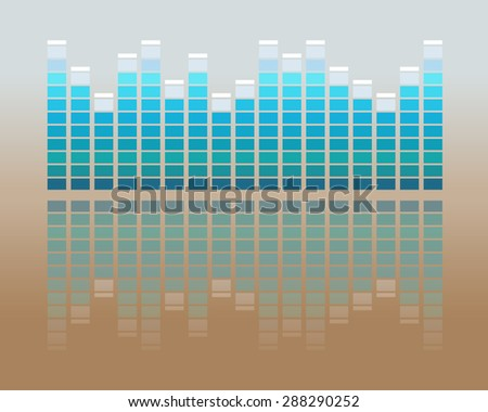 Vector music volume flat background - stock vector