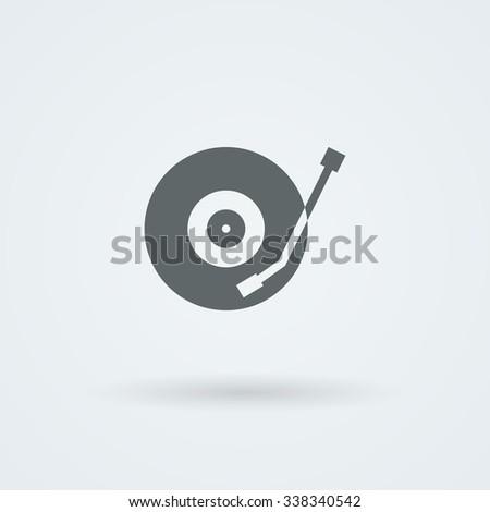 Vector musical plate icon. Logo. Pictogram. Button. - stock vector