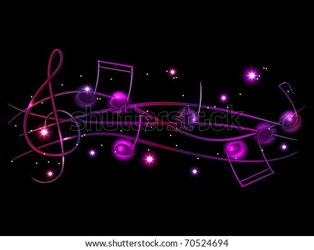 Vector musical shiny background - stock vector