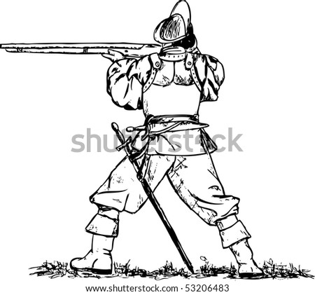 vector - musketeer isolated on background