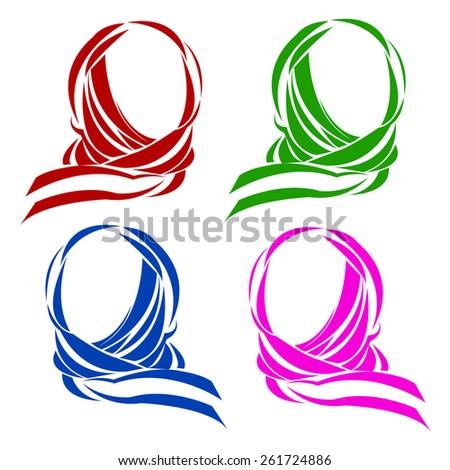 vector muslim islam islamic arab arabian veil - stock vector