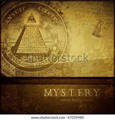 vector mystery background - stock vector