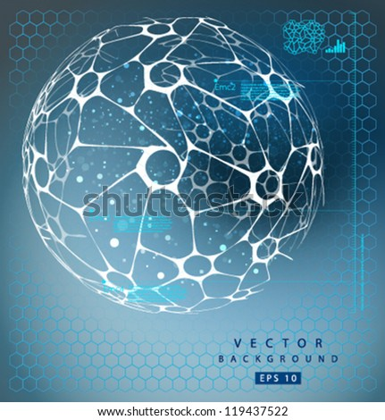 Vector nano sphere-01 - stock vector