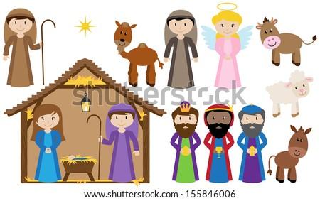 Vector Nativity Collection - stock vector
