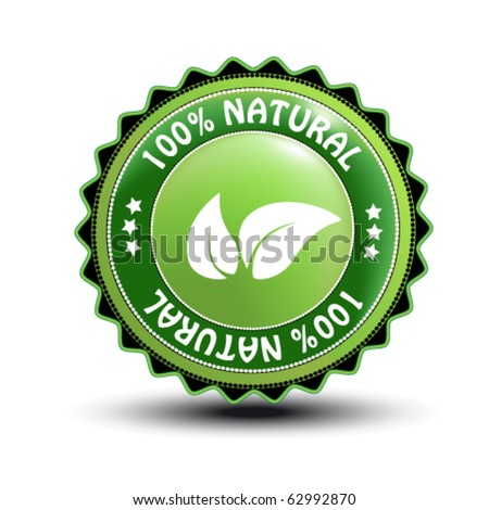 Vector natural label - stock vector