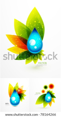 Vector nature background - stock vector