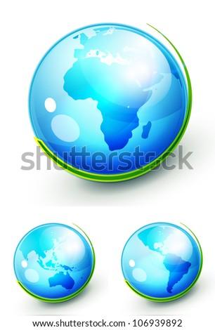 Vector nature Earth globe concepts - stock vector