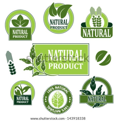 Vector nature symbols for natural product