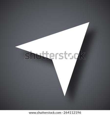 Vector navigation arrow icon - stock vector