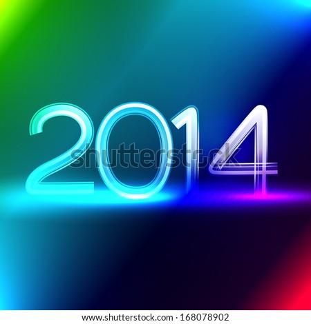 vector neon style happy new year design