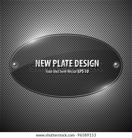 Vector new plate transparency circle design background illustration - stock vector