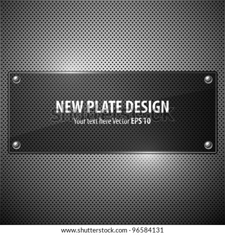 Vector new plate transparency design background, illustration - stock vector