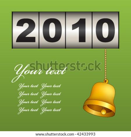 vector new year counter - stock vector
