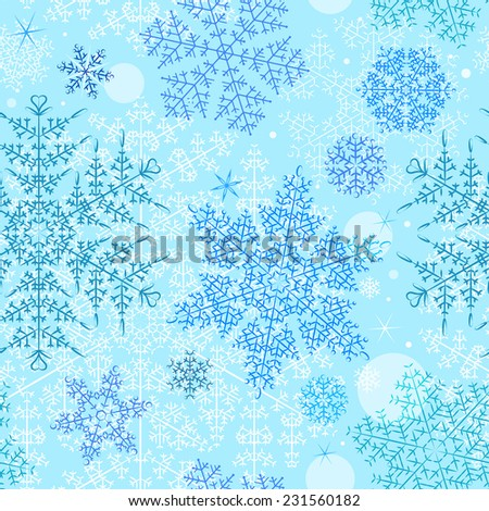 Vector New Year's snowflakes pattern - stock vector