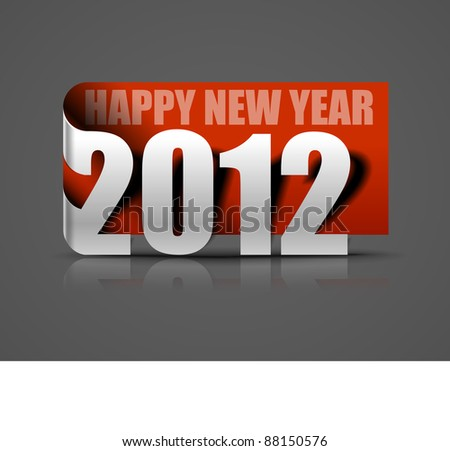 Vector new year 2012 sticker and the years ahead. - stock vector
