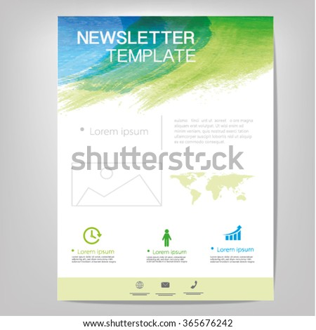Vector newsletter design