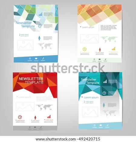 Vector newsletter design templates stock vector royalty free vector newsletter design templates maxwellsz
