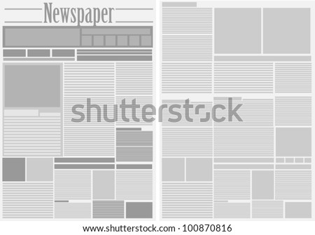 Vector Newspaper Background - stock vector