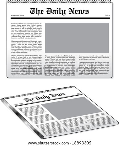 vector newspaper illustrations - stock vector