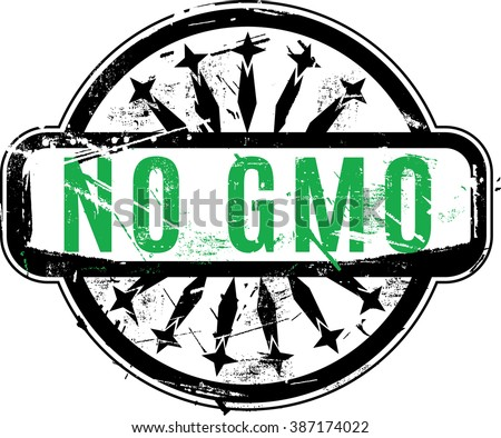 Vector No GMO or Genetically modified organism Rubber stamp with grunge texture for your design. See other rubber stamps in my portfolio. - stock vector