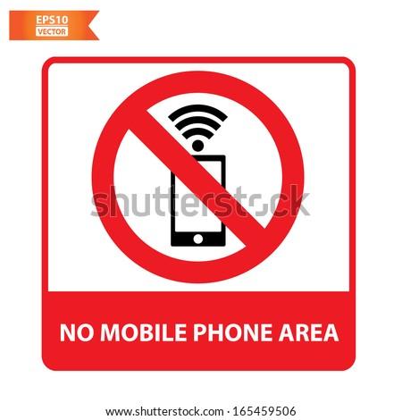 Vector: No mobile phone area sign. Eps10. - stock vector