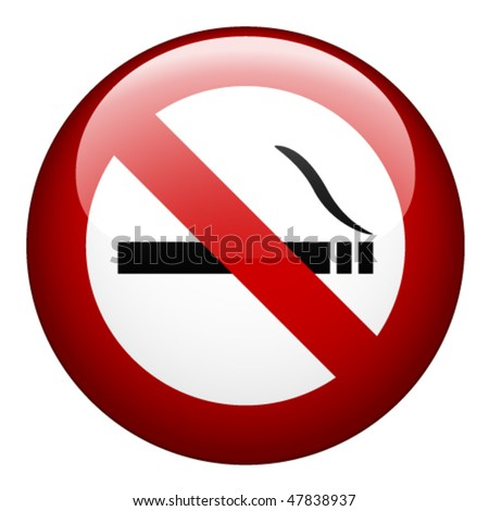 vector no smoking mark - stock vector