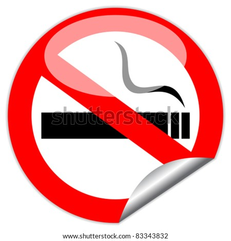 Vector no smoking sign, eps10 illustration - stock vector