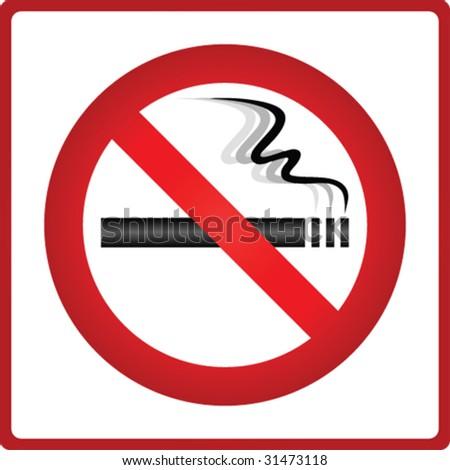 Vector no smoking sticker - stock vector