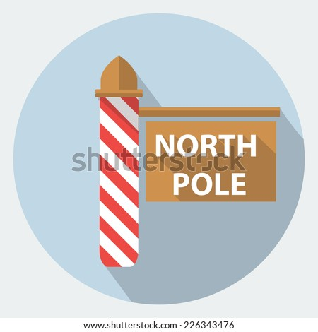 Vector north pole sign icon - stock vector
