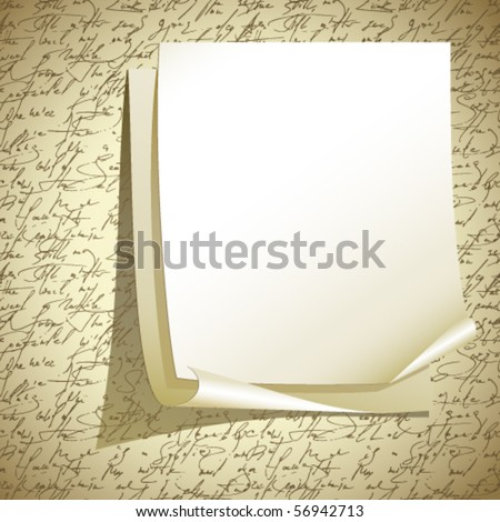 Vector note paper - stock vector