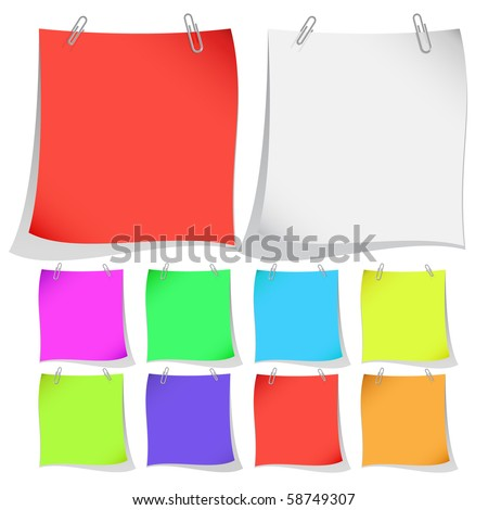 Vector note papers - stock vector