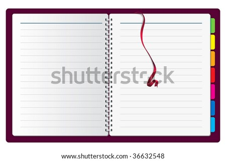 Vector Notebook - stock vector