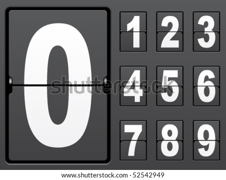vector number of mechanical panel - stock vector