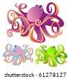 Vector octopus - stock vector