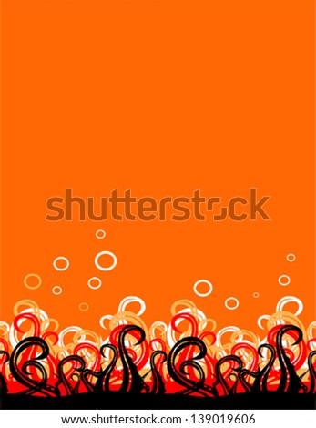 Vector octopus  horizontal seamless pattern - stock vector