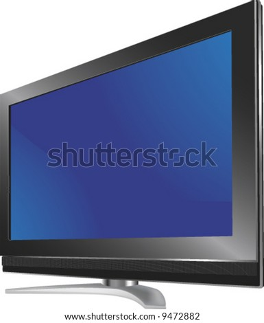 vector of a 3D realistic flashma tv